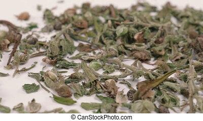 Cannabis. Dried marijuana herb. Drug.