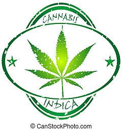 cannabis, estampilla