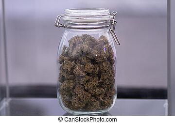 cannabis, folhas, verde, marijuana, plant.