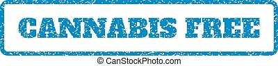 Cannabis Free Rubber Stamp