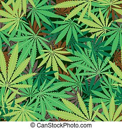 cannabis hemp texture - Cannabis hemp marijuana seamless...