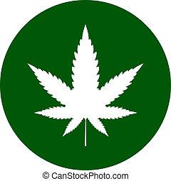 cannabis, icône