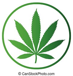 Cannabis Icon Design, AI 10 supported.