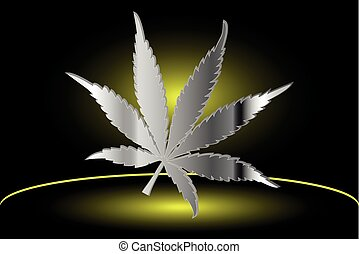 cannabis leaf,