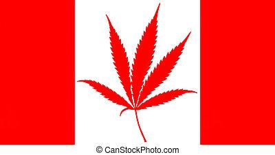 Cannabis leaf, marijuana