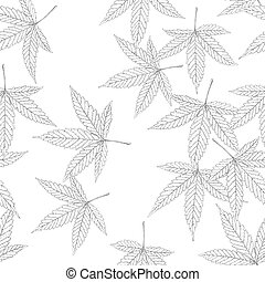 Cannabis leaf seamless pattern