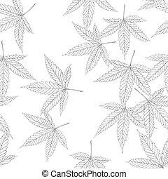 Cannabis leaf seamless pattern