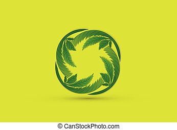 Cannabis leafs logo