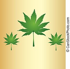 Cannabis leafs marijuana background