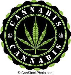 Awesome cannabis logo vector illustration.