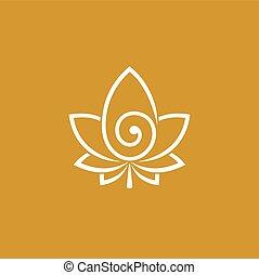 Cannabis logo design, spiral vector logo