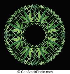 cannabis, mandala, zen