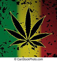 Cannabis-Marihuana - Illustration of cannabis as a symbol on...