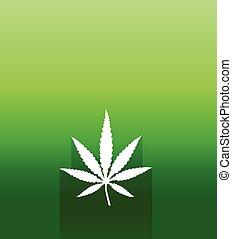 cannabis, marijuana blatt, vektor, ikone