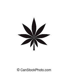 Cannabis marijuana hemp leaf logo