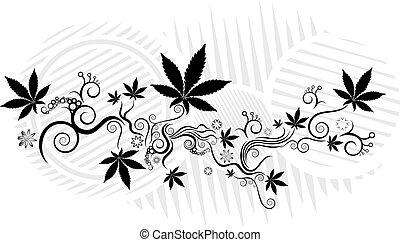Cannabis Marijuana leaf texture background vector ...