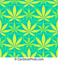 cannabis marijuana leaves seamless pattern