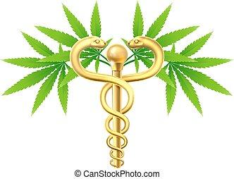 Cannabis Medical Marijuana Caduceus