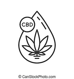 Cannabis oil icon.