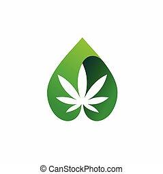 cannabis oil vector, CBD oil vector template