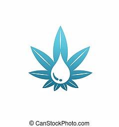 Cannabis Oil vector template, CBD oil vector
