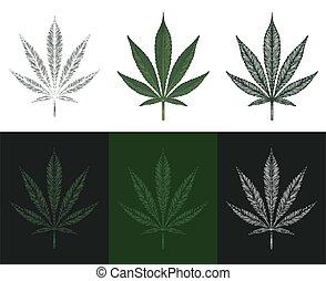 Cannabis or Marijuana leaves vector illustration