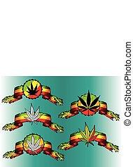 cannabis, papier, blad, perkament