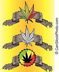 cannabis, papier, feuille, parchemin