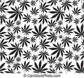 cannabis pattern - cannabis seamless pattern in vector...