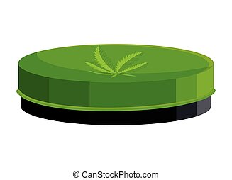 cannabis, produto, natural, oinment, ícone