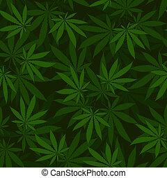 cannabis, seamless, mønster