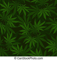 cannabis, seamless, modèle