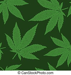 Cannabis seamless pattern print design