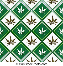 cannabis seamless texture, abstract pattern; art...