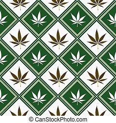 cannabis seamless texture, abstract pattern; vector art illustration