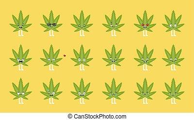 cannabis, set., emoji
