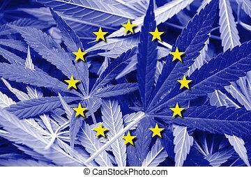 cannabis, unión, droga de marihuana, legalization, bandera,...