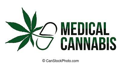 cannabis, vektor, medizin