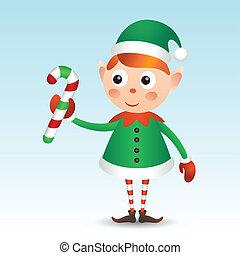 canne, elfe, bonbon