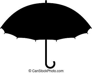 canne, parapluie, ouvert