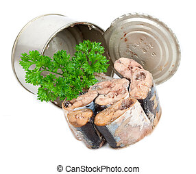 Canned fish with parsley