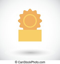 Canned. Flat vector icon for mobile and web applications....