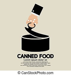 Canned Food. - Canned Food Vector Illustration.