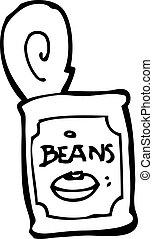 canned food cartoon