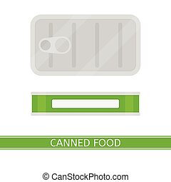 Canned Food Isolated - Vector illustration of canned food...