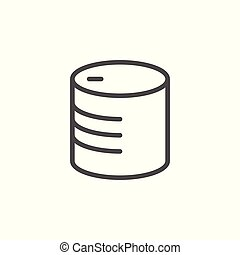Canned food line icon isolated on white. Vector illustration