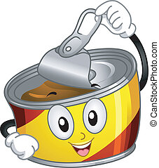 Canned Food Mascot - Mascot Illustration of a Canned Food