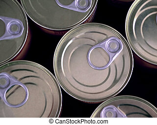 Canned Food - Photo of several cans of food aligned...