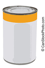 Vector illustration can with blank label.