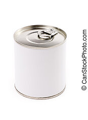 Canned Food with white background